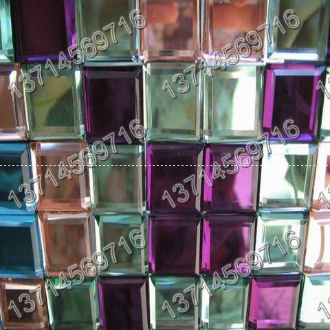 水晶马赛克,玻璃贴片,酒店装修用品,长方形贴片大图一