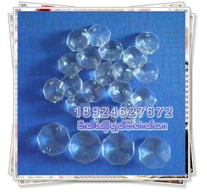 厂家直销双孔八角珠,14#八角珠,压克力珠、玻璃珠