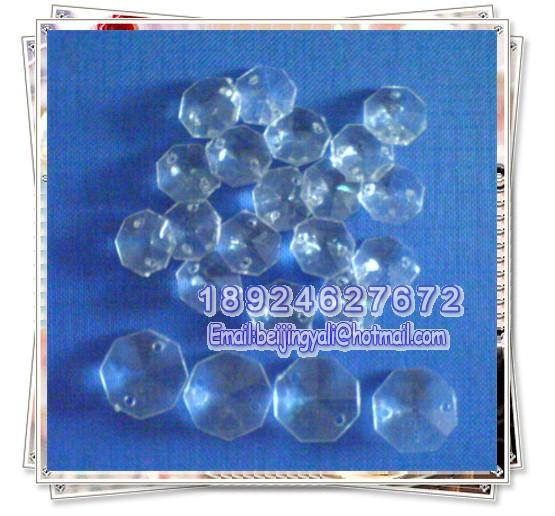 厂家直销双孔八角珠,14#八角珠,压克力珠、玻璃珠大图一
