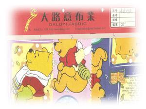 卡通平网印花