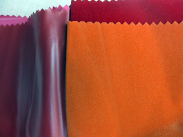 桃红色PVC植绒布
