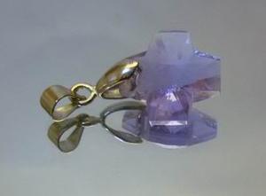水晶紫色十字架
