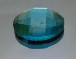 专业生产加工天蓝色椭圆龟面玻璃贴片