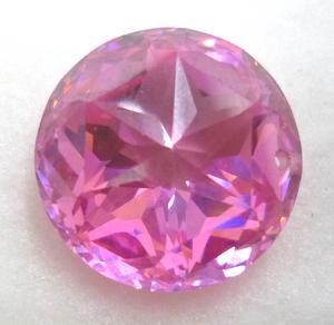 桃红色圆锆石