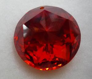 大红色圆锆石