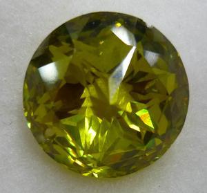 橄榄绿圆锆石