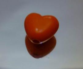 大红色心形珠