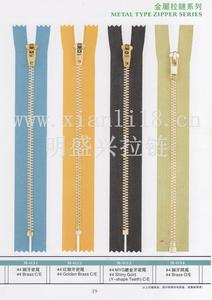 厂家大量销售#4铜牙密尾拉链 颜色各异