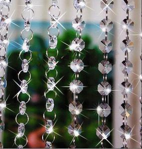 水晶八角珠珠帘、亚克力八角珠珠帘