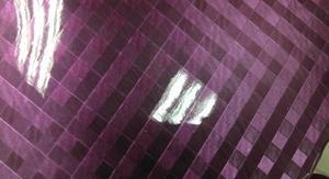 厂家大量供应精质二层牛皮格子纹漆皮 (紫色)【大量现货】