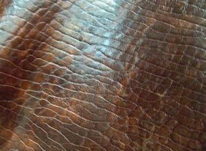 厂家大量供应精质头层牛皮油蜡大象纹(双色*)【大量现货】