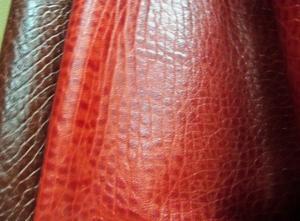 厂家直销大量供应精质头层牛皮油蜡大象纹(棕红色)【大量现货】