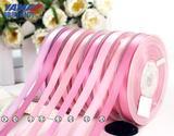 明织带 双面色丁缎带粉色系25mm