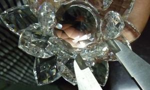 水晶莲花 带灯莲花 旋转发光底座 水晶底座