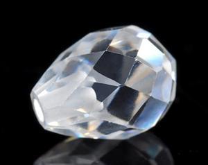 白色透明半孔圆形锆石