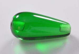 绿色两头半孔光面圆形水滴