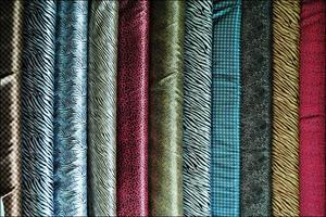 【厂家直销】箱包布窗帘布服装里布 F1细纹色丁 织锦缎 贡缎