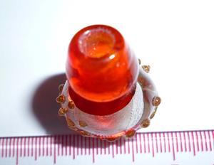 A019 22.22*30.22 大红色琉璃银箔小花瓶