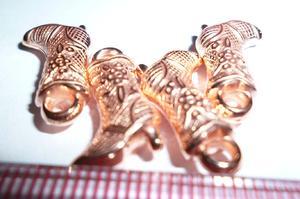 5182#  11*18mm CCB高跟鞋形状带圈珠子