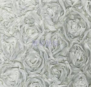 【厂家直销】3D玫瑰 立体玫瑰绣花布 时尚手袋箱包服装面料