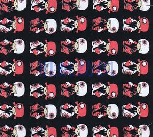 【厂家直销】玩偶印花布 日本娃娃T/C印花布 手袋箱包面料