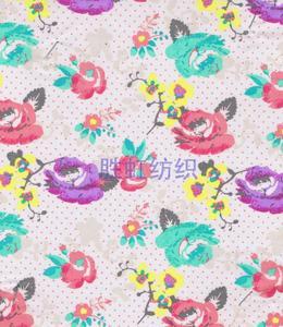 【厂家直销】玫瑰印花布 T/C印花 手袋箱包面料