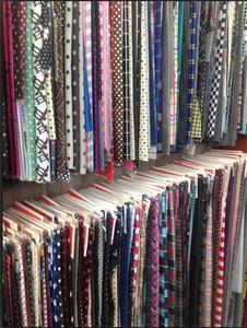 【印花色丁】细纹粗纹色丁有光哑光色丁织锦缎包装布过胶色丁