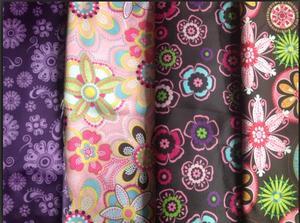 【花朵印花色丁】细纹粗纹过胶不过胶色丁包装里布绸缎织锦缎