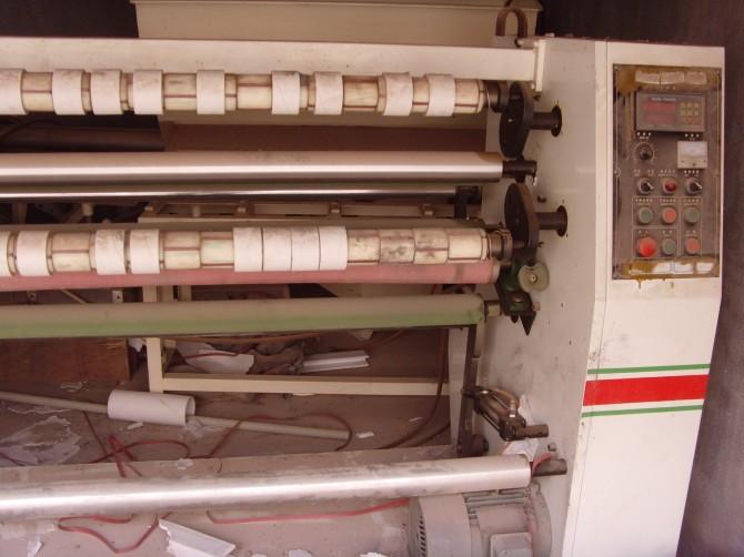 二手佛山胶带分条机;胶纸分切机;大复卷机切台