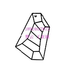 石头形状水晶吊坠