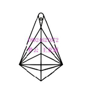 四方形状刻面吊坠