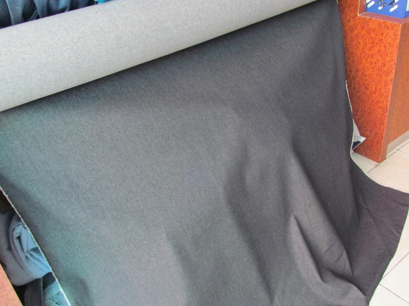 常年供货牛仔布 10安黑色蓝色斜纹大图一