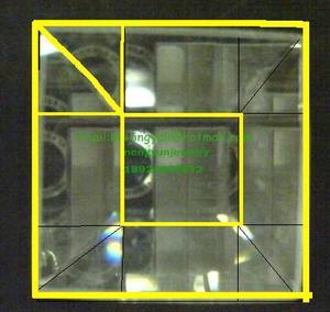 样392#  25mm金黄色13面玻璃马赛克贴片