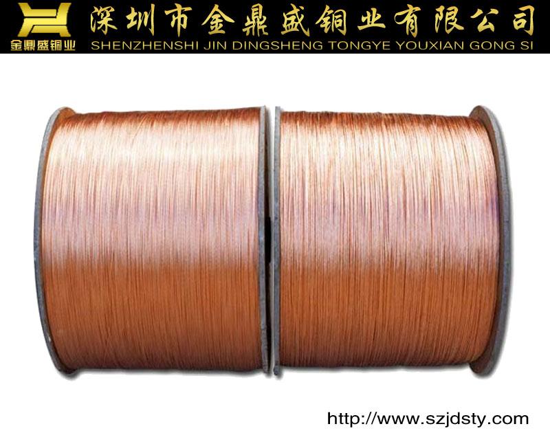 厂家直销无氧铜丝、低氧铜丝、铜包铜、镀锡铜丝、电话线大图一