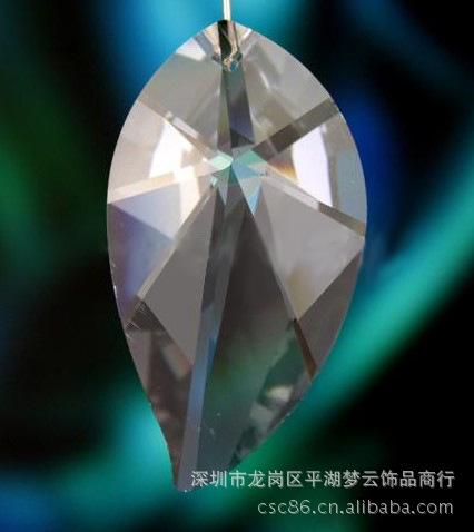 28x50mm水晶芒果吊坠、K9水晶吊坠、K9挂件大图一