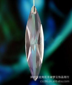 20X80mm水晶柳叶眉吊坠、水晶单孔挂件