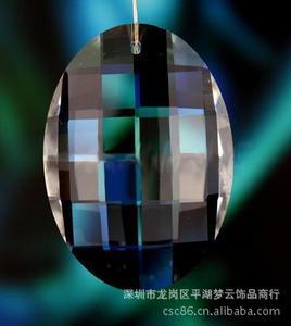35X50mm水晶蛋形网格吊坠、水晶单孔挂件
