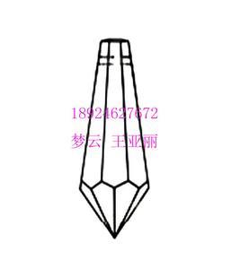 55#玻璃中南柱、手工刻面水晶尖珠(也有亚克力料)