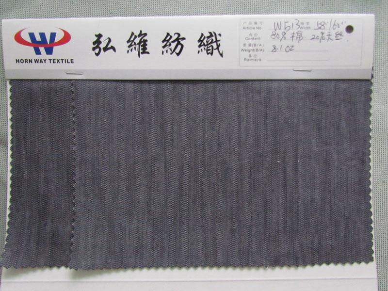 8安灰色竹节天丝牛仔布  低价出售 22/码大图一