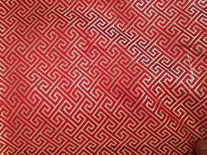 【厂家直销】织锦缎 提花布 装帧布 包装布 回形纹 长城格
