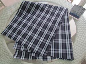 时尚紫色格子牛仔布  深圳弘维纺织