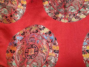 【织锦缎】装帧布 包装布 色织提花布 大团花 中国风