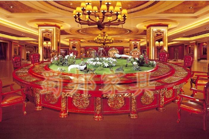 酒店专用豪华电动餐桌火锅桌