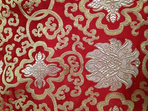 【织锦缎】装帧布 包装布 色织提花布 富贵花 中国风