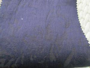 蓝色T/C弹力提花牛仔布料 弘维纺织