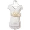 尤加迪曼2013夏装新款立体花V领褶皱修身淑女T恤63036小图二