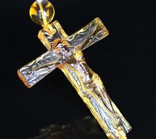定制 琉璃车挂 耶稣十字架大图一