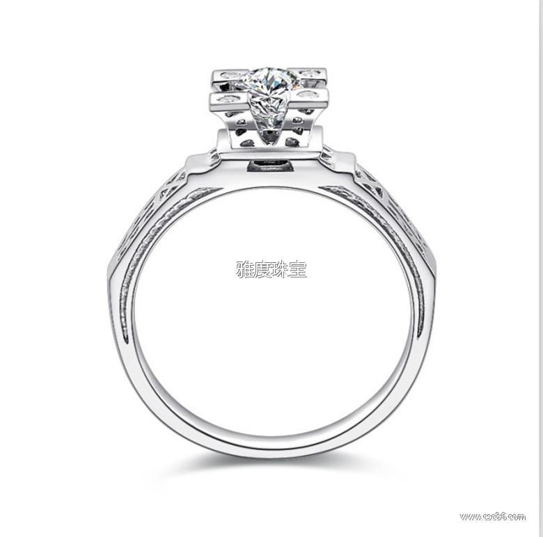 埃菲尔铁塔香榭之吻戒指