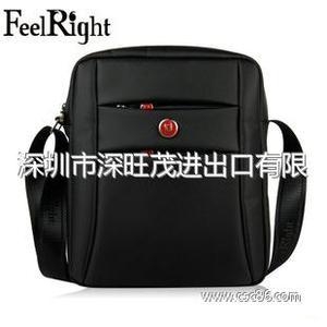 FeelRight正品男包 黑色休闲单肩男 时尚 潮 韩版包