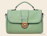 韩国学院风时尚简约女包名媛定型小箱包盖式单肩斜挎包硬壳手提包